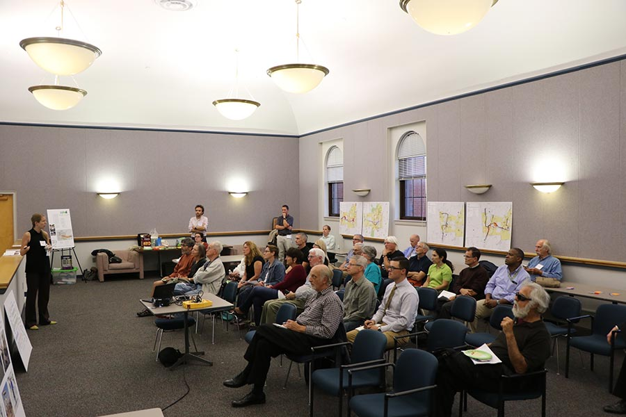 Citzens from Plainville and New Britain listen to Workshop Findings
